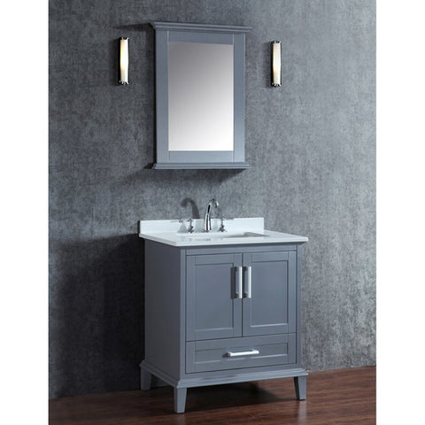 "Seacliff by ARIEL Nantucket 30"" Single Sink Vanity Set SC-NAN-30 - BathVault"