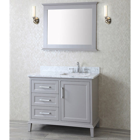 "Seacliff by ARIEL Nantucket 42"" Single Sink Vanity Set SC-NAN-42 - BathVault"