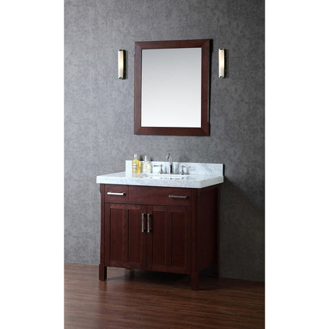 "Seacliff by ARIEL Redford 36"" Single Sink Vanity Set in Walnut SC-RED-36-TWA - BathVault"