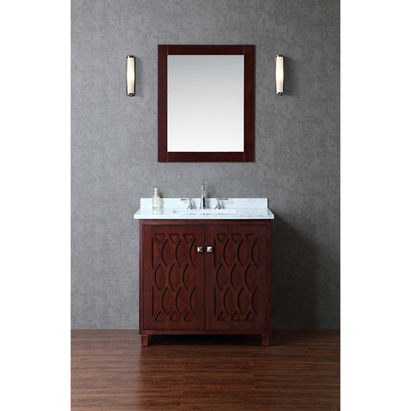 "Seacliff by ARIEL Turnberry 36"" Single Sink Vanity Set in Walnut SC-TUR-36-SWA - BathVault"