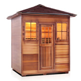 Enlighten SIERRA - 4 Peak Full Spectrum Infrared Sauna - BathVault