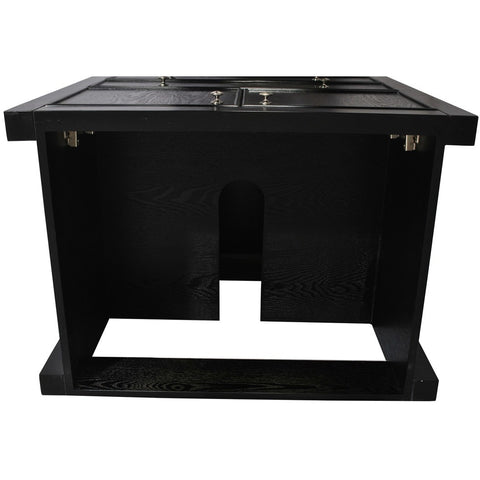 "Belmont Decor Armstrong 30"" Black Single Sink Vanity ST4D2-30-BLK - BathVault"