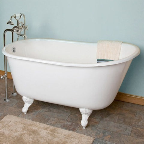 Cambridge Plumbing Cast Iron Clawfoot Swedish Slipper Tub 54