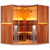Image of 4 Person Clearlight Full Spectrum Infrared Sauna Santuary C-FS - BathVault