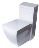 Eago 1-Piece 1.28 GPF Single Flush Elongated Toilet in White - BathVault