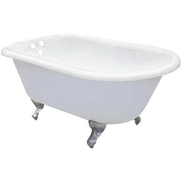 "Kingston Brass with 3-3/8"" Drillings Aqua Eden 54"" Freestanding/Clawfoot Tub - BathVault"