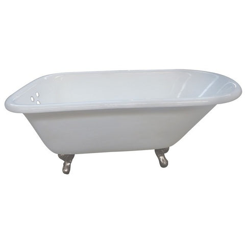 "Kingston Brass with 3-3/8"" Drillings Aqua Eden 66"" Freestanding/Clawfoot Tub - BathVault"