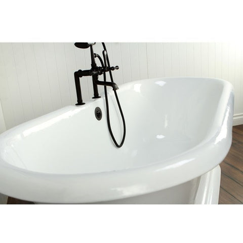 "Kingston Brass Pedestal/Double Ended Aqua Eden 72"" Freestanding/Clawfoot Tub - BathVault"