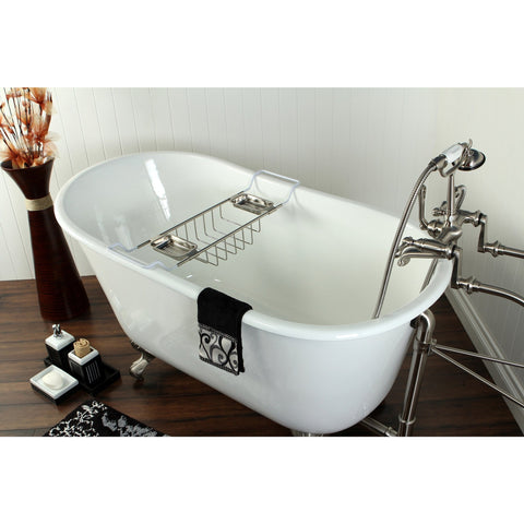 "Kingston Brass Slipper Aqua Eden 53"" Freestanding/Clawfoot Tub - BathVault"