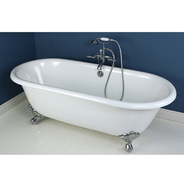 "Kingston Brass Double Ended Aqua Eden 66"" Freestanding/Clawfoot Tub - BathVault"