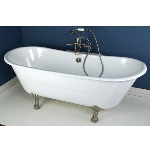 "Kingston Brass Double Slipper Aqua Eden 67"" Freestanding/Clawfoot Tub - BathVault"