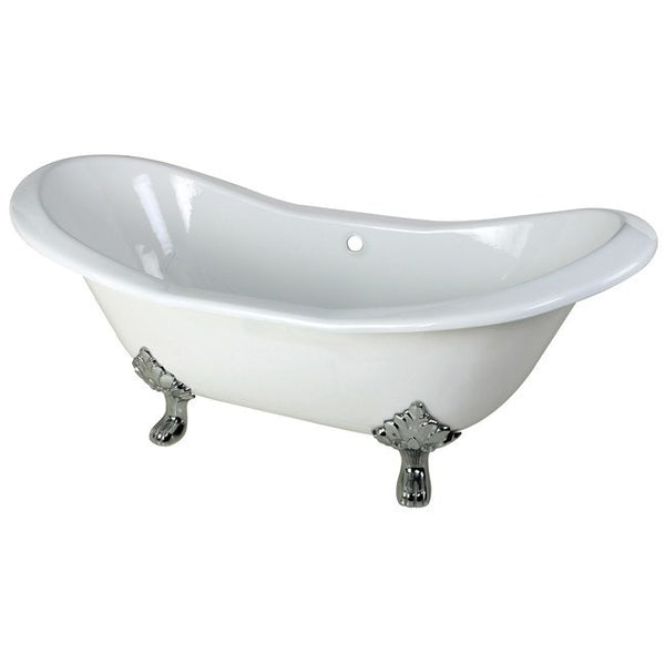 "Kingston Brass Double Slipper Aqua Eden 72"" Freestanding/Clawfoot Tub - BathVault"