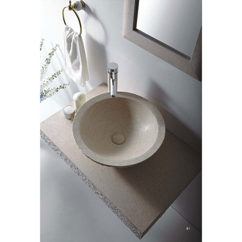 "MTD Vanities Rome 36"" Single Vessel Sink Wall Mount Galala Marble Stone Vanity Set - BathVault"