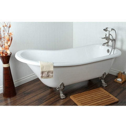 "Kingston Brass Slipper Aqua Eden 67"" Freestanding/Clawfoot Tub - BathVault"