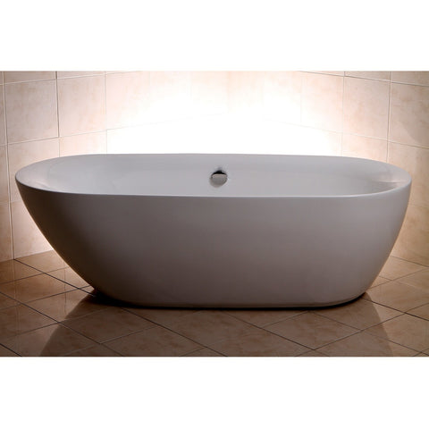 "Kingston Brass Freestanding Skirted Aqua Eden 71"" Freestanding - BathVault"