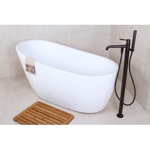 "Kingston Brass Fusion Tub/Slipper Aqua Eden 59"" Freestanding - BathVault"