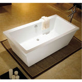 "Kingston Brass Fusion Tub/Rec Aqua Eden 66"" Freestanding - BathVault"