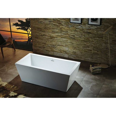 "Virtu USA Serenity VTU-1367 67"" x 27.5""  Freestanding Soaking Bath Tub - BathVault"