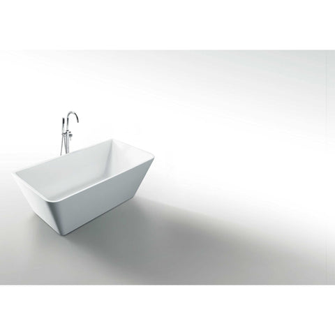 "Virtu USA Serenity VTU-3367 67"" x 31.3""  Freestanding Soaking Bath Tub - BathVault"