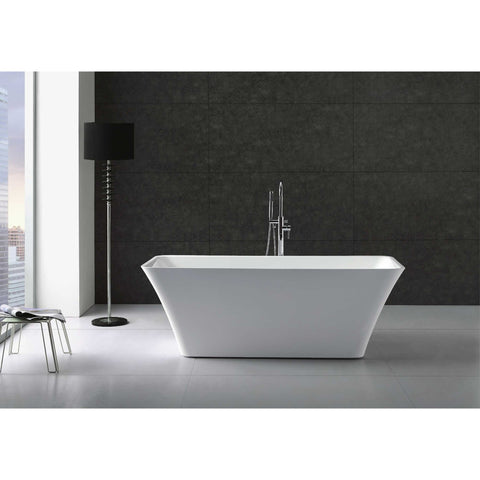 "Virtu USA Serenity VTU-3467 67"" x 29.5""  Freestanding Soaking Bath Tub - BathVault"