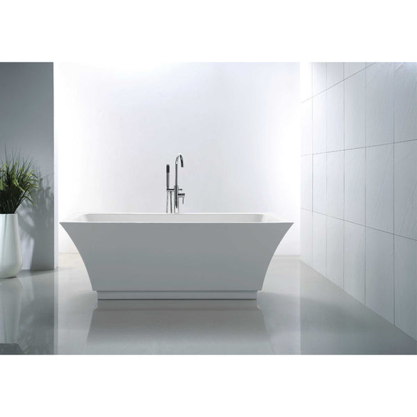 "Virtu USA Serenity VTU-3567 67"" x 31.3""  Freestanding Soaking Bath Tub - BathVault"