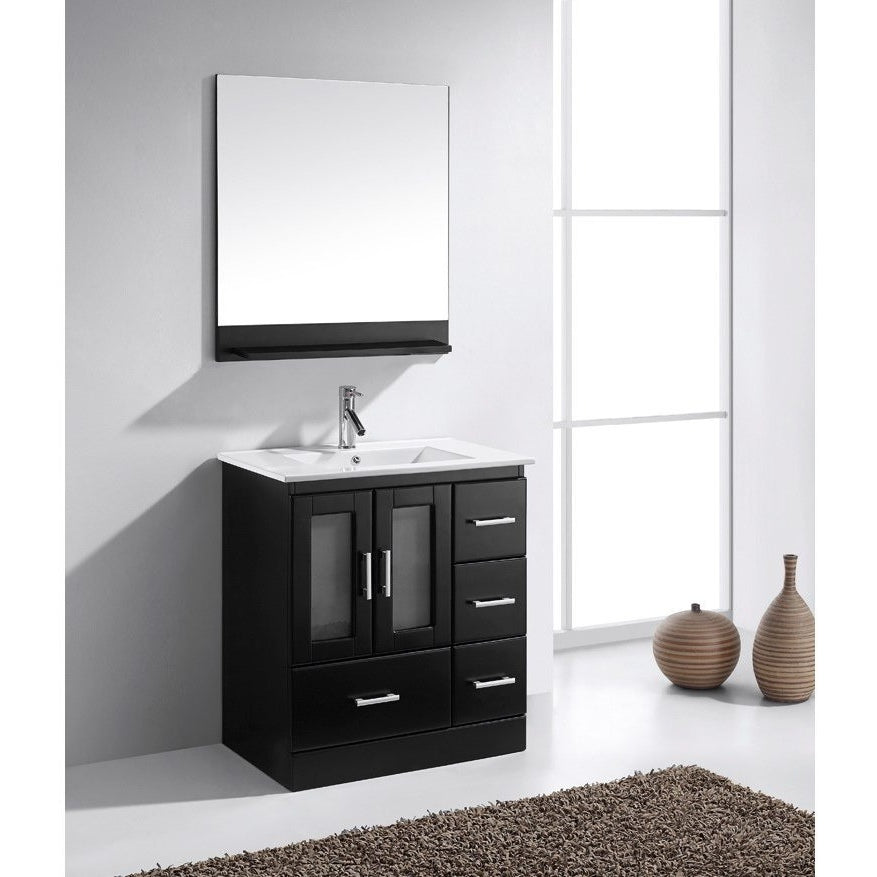 Virtu USA Zola 30″ Single Bathroom Vanity Cabinet Set MS-6730-S