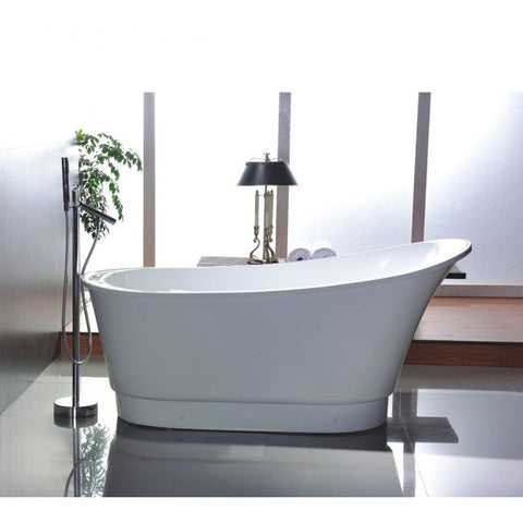 "Legion Furniture 67"" White Freestanding Slipper Tub - WE6803 - BathVault"