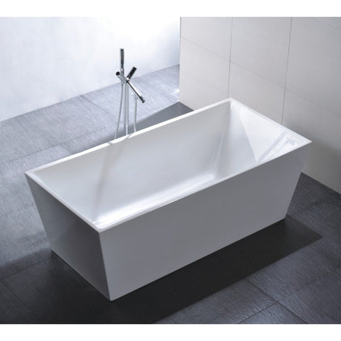 "Legion Furniture 67"" White Double Ended Freestanding Tub - WE6813 - BathVault"