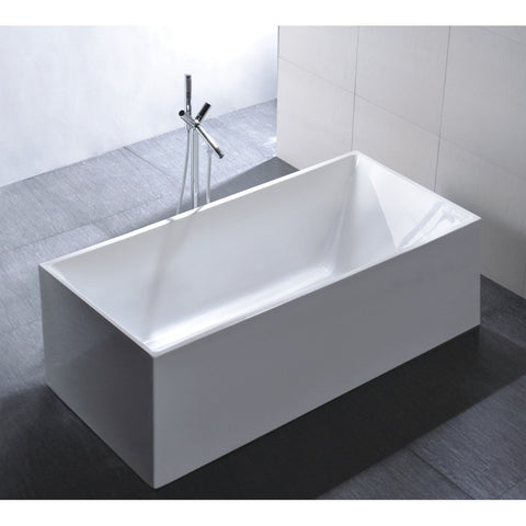 "Legion Furniture - 67"" WHITE ACRYLIC TUB - NO FAUCET - BathVault"