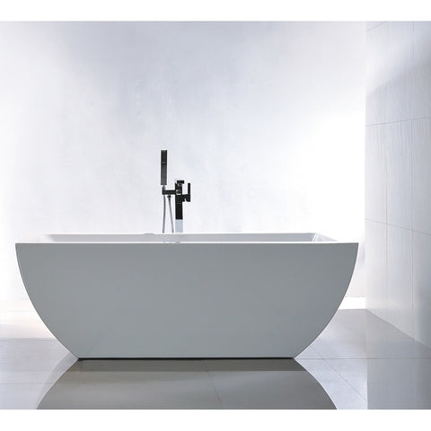 "Legion Furniture 67"" Double Ended Freestanding Tub - WE6821 - BathVault"