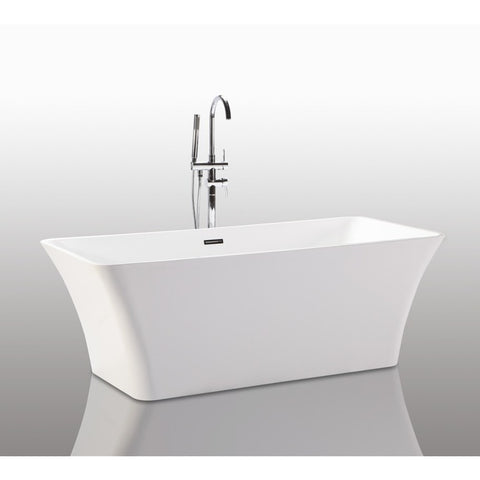 "Legion Furniture Freestanding Tub - 67"" White Rectangular WE6840 - BathVault"