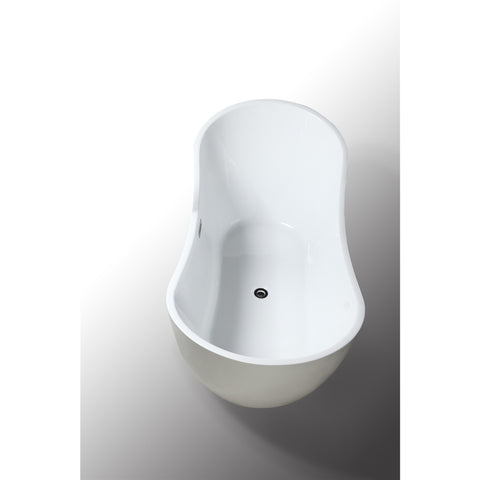 "Legion Furniture Soaking Bathtub - Freestanding 71"" WE6846 - BathVault"