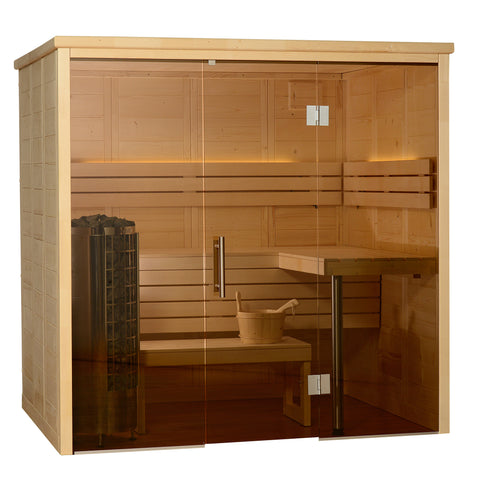 Almost Heaven Saunas Worthington Indoor Sauna with Cilindro Heater - BathVault