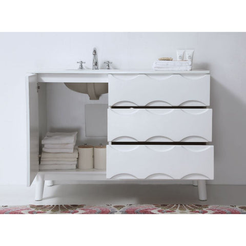 "Legion Furniture 48"" White Bathroom Vanity WH5048 Ceramic - BathVault"