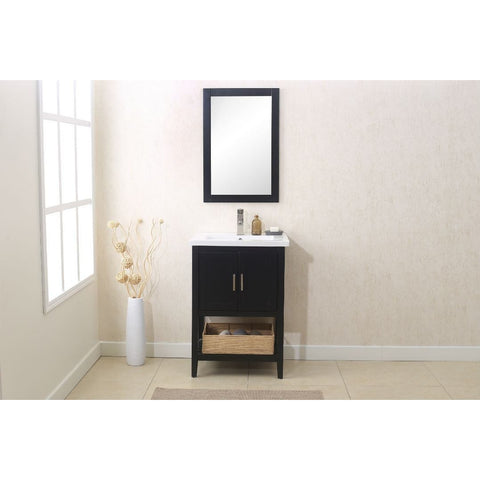 "Legion Furniture Vanity Set 24"" with Mirror Faucet Basket WLF6021 - BathVault"