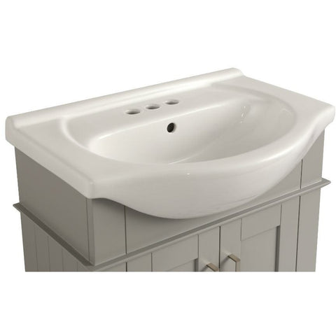 "Legion Furniture 24"" White Porcelain Bathroom Vanity - WLF6042 - BathVault"