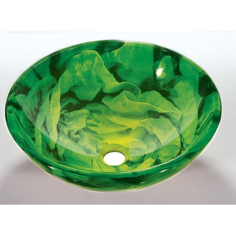 Legion Furniture Tempered Glass Vessel Sink Bowl - Green ZA-04 - BathVault