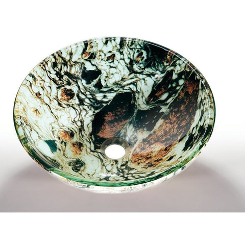 Legion Furniture Tempered Glass Vessel Sink Bowl - Earth ZA-12 - BathVault