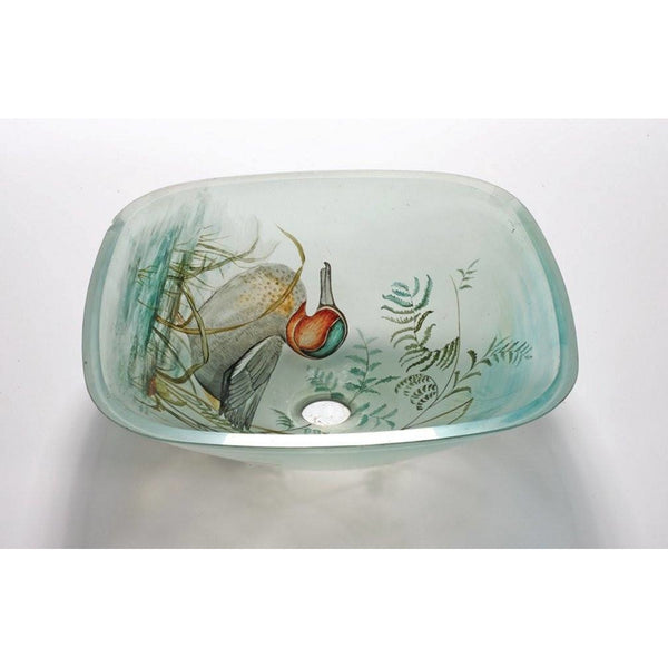 Legion Furniture Tempered Glass Vessel Sink Bowl - Duck ZA-131 - BathVault