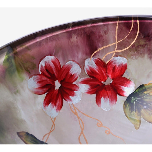 Legion Furniture Tempered Glass Vessel Sink Bowl - Floral in Summer ZA-169 - BathVault