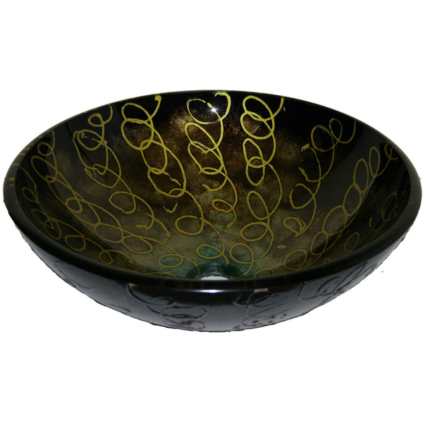 Legion Furniture Tempered Glass Vessel Sink Bowl - Abstract ZA-183-1 - BathVault