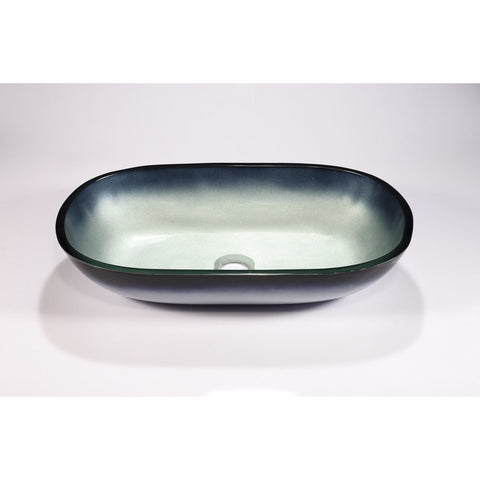 Legion Furniture Tempered Glass Vessel Sink Bowl - Steel Gray ZA-213 - BathVault