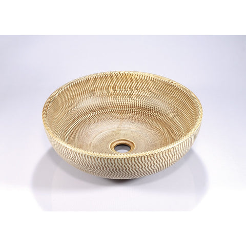 Legion Furniture Porcelain Vessel Sink Bowl - Bamboo ZA-223 - BathVault