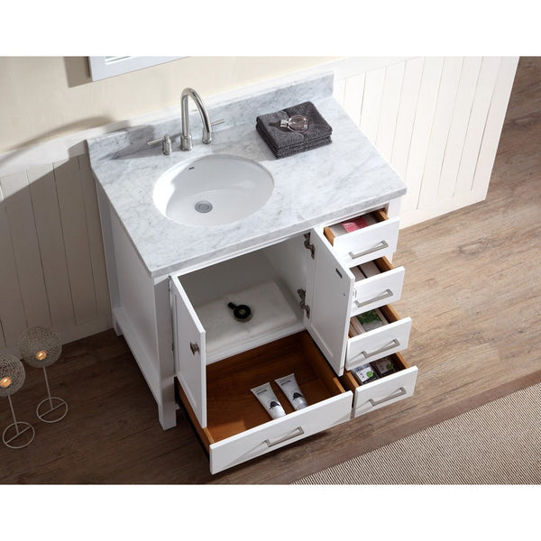 Ariel Cambridge 37 Quot Vanity Set Left Offset Sink A037s L