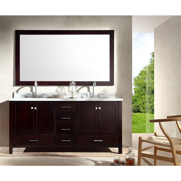"ARIEL Cambridge 73"" Double Sink Bathroom Vanity Set A073D - BathVault"