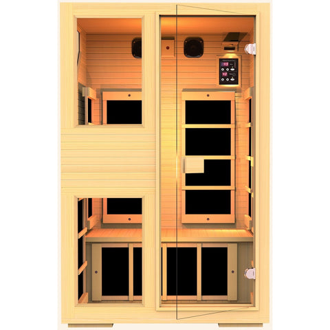 JNH Ensi™ 2 Person Zero-EMF Far Infrared Sauna. - BathVault