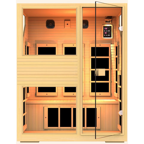 Ensi™ 3 Person Zero-EMF Far Infrared Sauna - BathVault