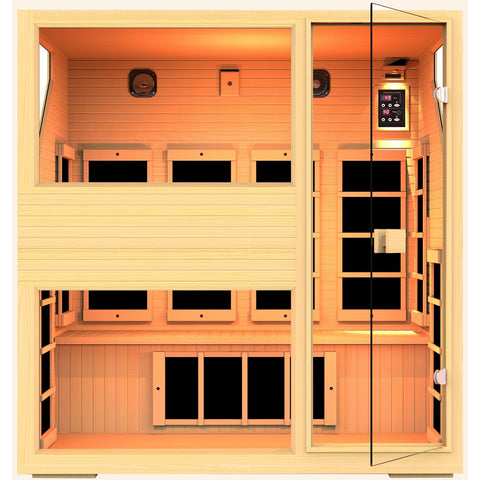 JNH Ensi™ 4 Person Zero-EMF Far Infrared Sauna - BathVault