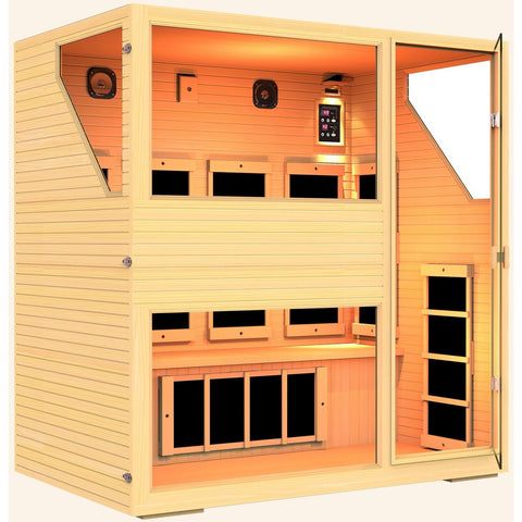 Ensi™ 4 Person Zero-EMF Far Infrared Sauna - BathVault