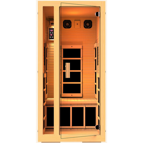 JNH Lifestyles Joyous 1 Person Infrared Sauna (2019 Model) - BathVault